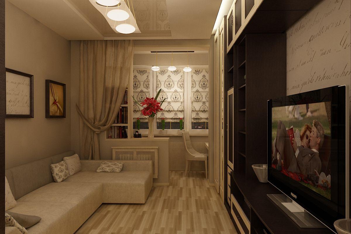 гостиная с балконом фото