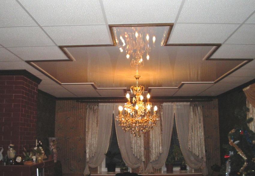 Наиболее распространенные типы подвесных потолков
